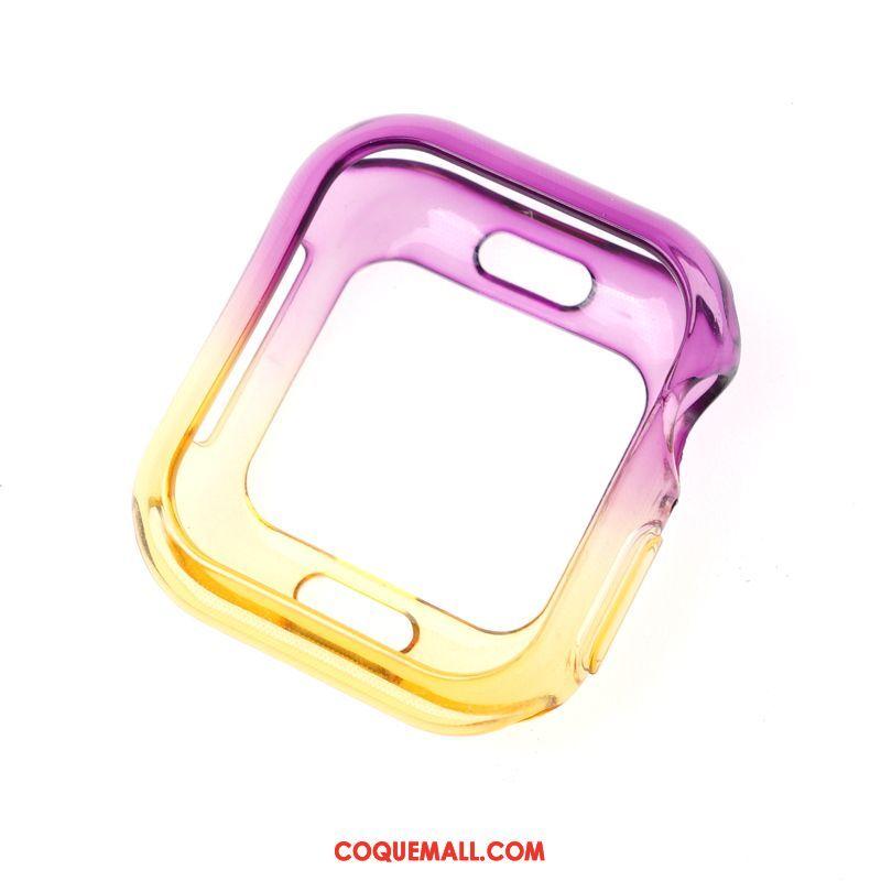 Étui Apple Watch Series 5 Personnalité Incassable Transparent, Coque Apple Watch Series 5 Protection Tendance