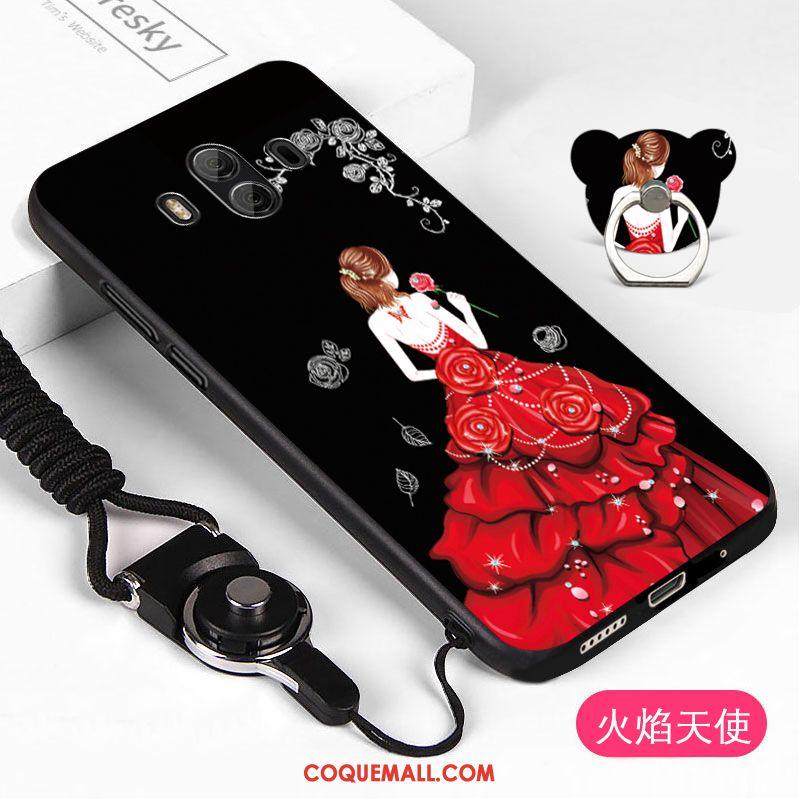 Étui Huawei Mate 10 Téléphone Portable Ornements Suspendus Fluide Doux, Coque Huawei Mate 10 Incassable Noir
