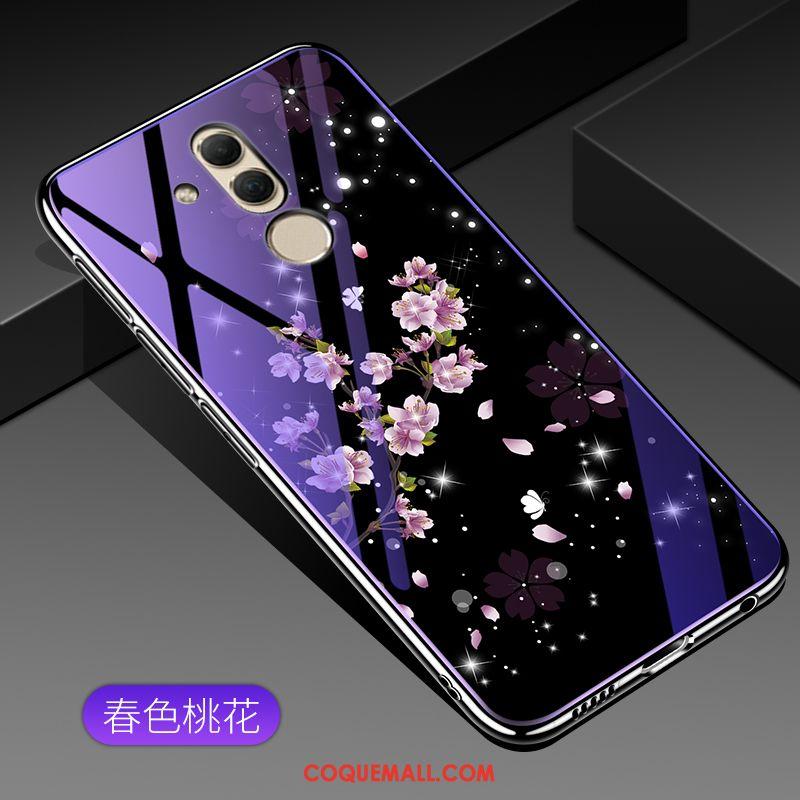 Étui Huawei Mate 20 Lite Violet Verre Tendance, Coque Huawei Mate 20 Lite Incassable Protection