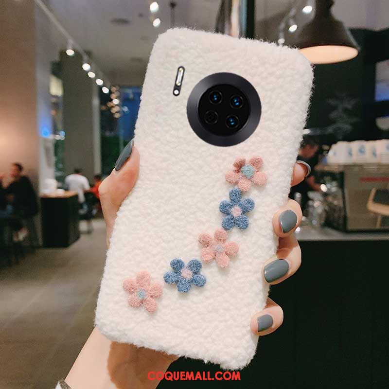 Étui Huawei Mate 30 Pro Charmant Vent Téléphone Portable, Coque Huawei Mate 30 Pro Amour Net Rouge