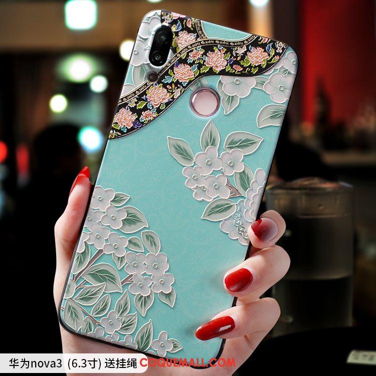 Étui Huawei Nova 3 Très Mince Ornements Suspendus Incassable, Coque Huawei Nova 3 Créatif Silicone