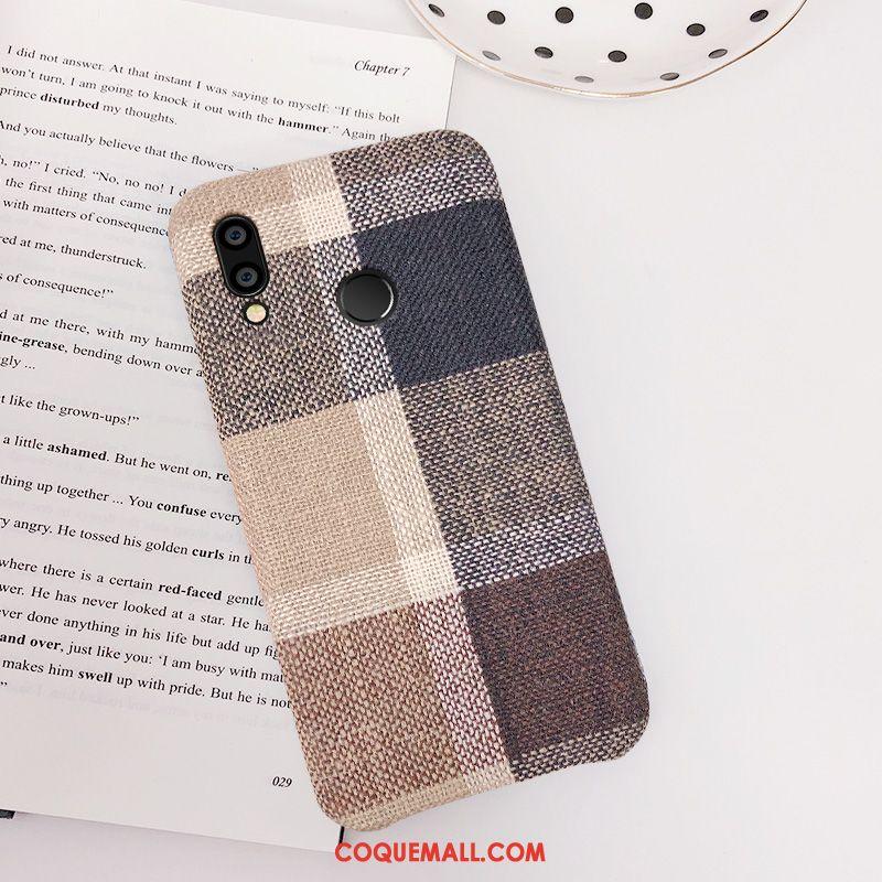 Étui Huawei Nova 3i Personnalité Tissu Téléphone Portable, Coque Huawei Nova 3i Simple Tout Compris Braun