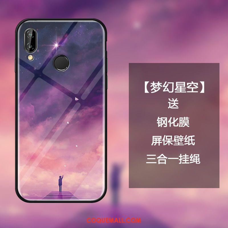 Étui Huawei Nova 3i Silicone Noir Miroir, Coque Huawei Nova 3i Créatif Protection