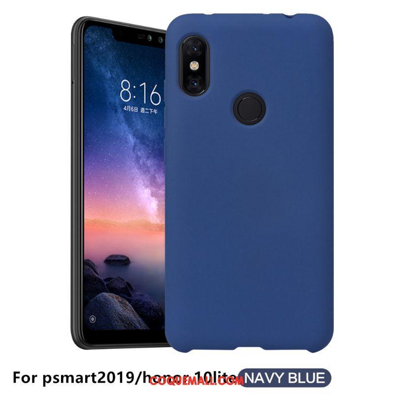 Étui Huawei P Smart 2019 Couleur Unie Nouveau Sentir, Coque Huawei P Smart 2019 Noir Téléphone Portable