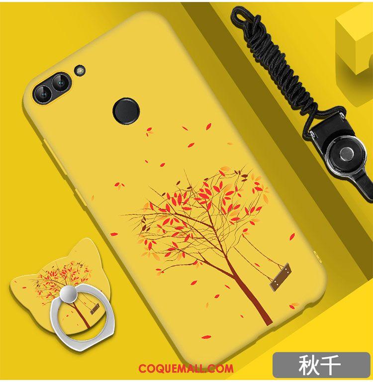 Étui Huawei P Smart Silicone Membrane Anneau, Coque Huawei P Smart Ornements Suspendus Délavé En Daim