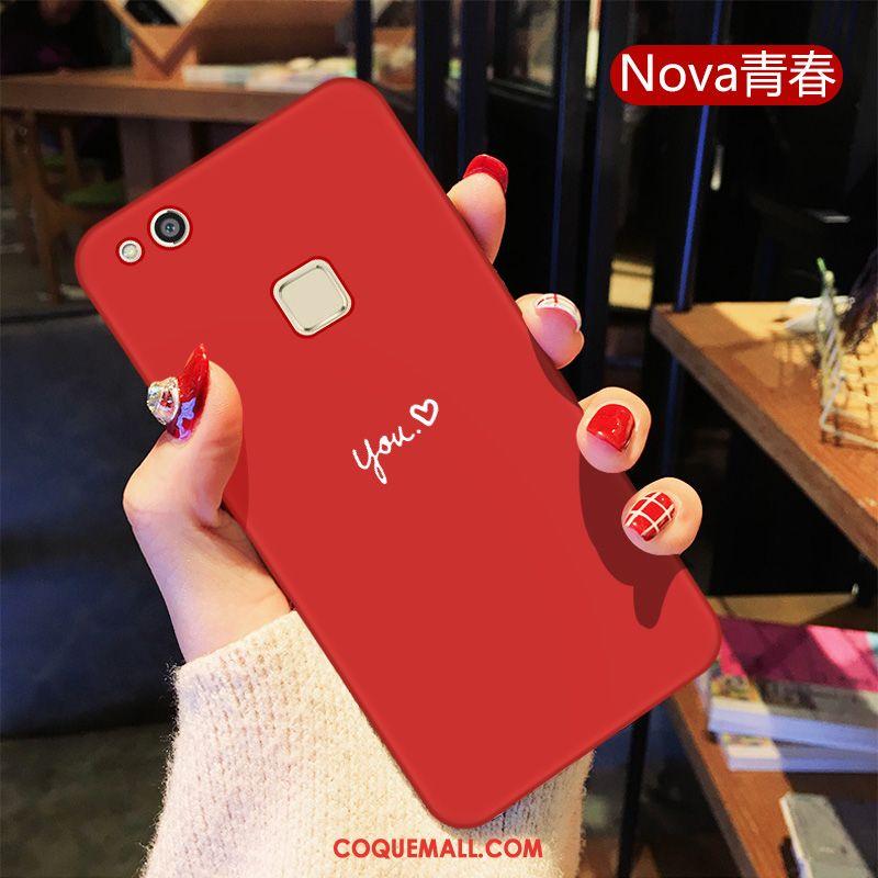 Étui Huawei P10 Lite Amoureux Rouge Personnalité, Coque Huawei P10 Lite Jeunesse Silicone