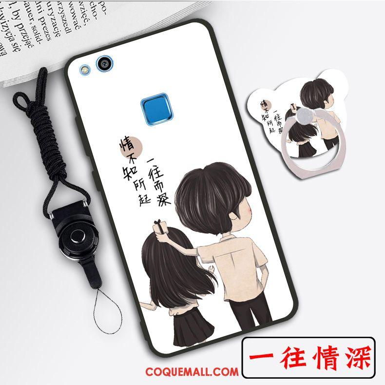 Étui Huawei P10 Lite Protection Créatif Tendance, Coque Huawei P10 Lite Dessin Animé Téléphone Portable Beige