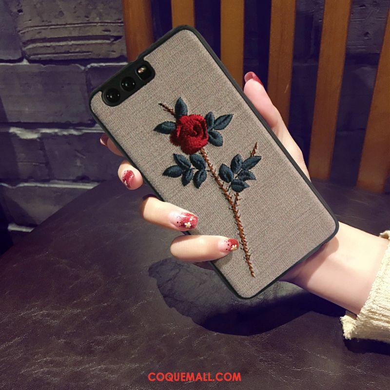 Étui Huawei P10 Plus Vintage Incassable Téléphone Portable, Coque Huawei P10 Plus Noir Luxe