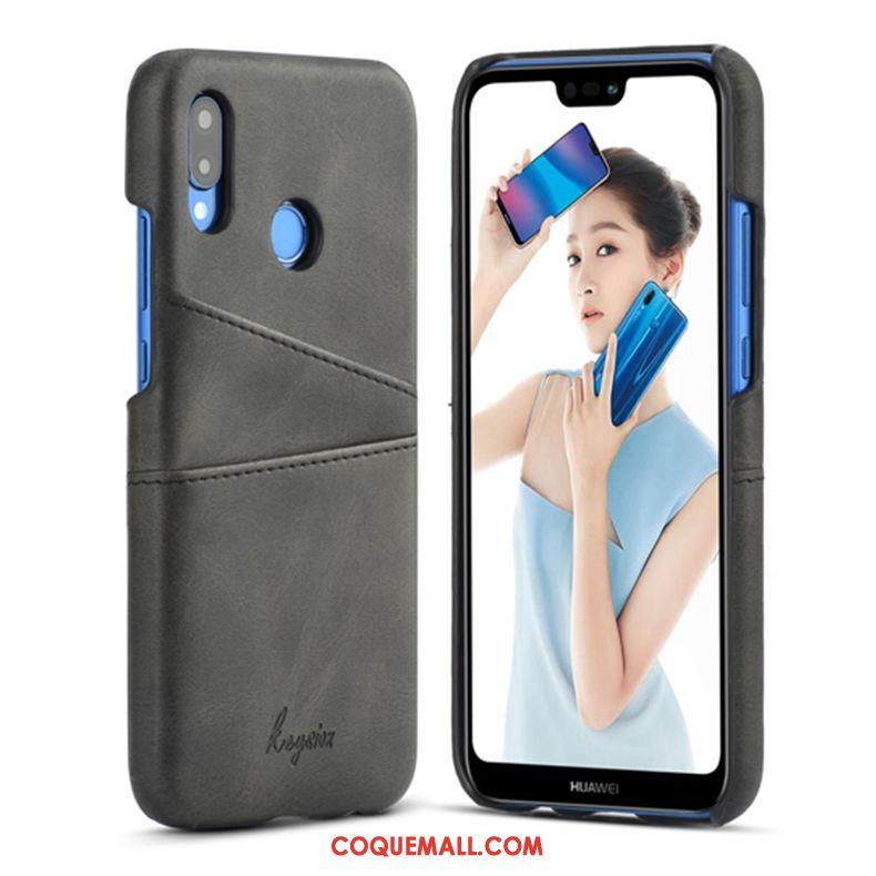 Étui Huawei P20 Lite Créatif Business Portefeuille, Coque Huawei P20 Lite Incassable Cuir