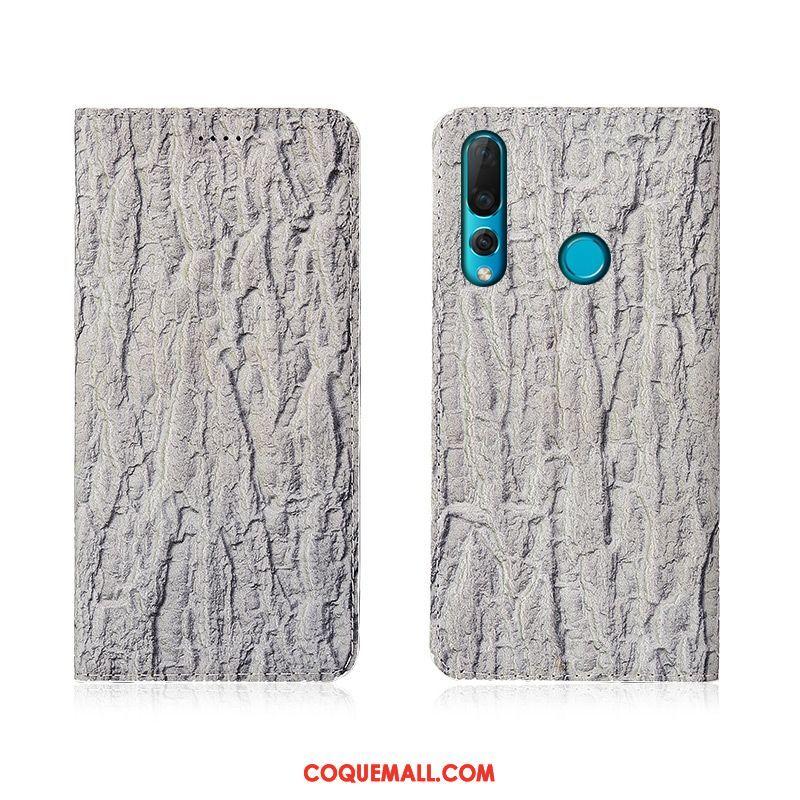Étui Huawei P30 Lite Cuir Véritable Protection En Cuir, Coque Huawei P30 Lite Nouveau Arbres