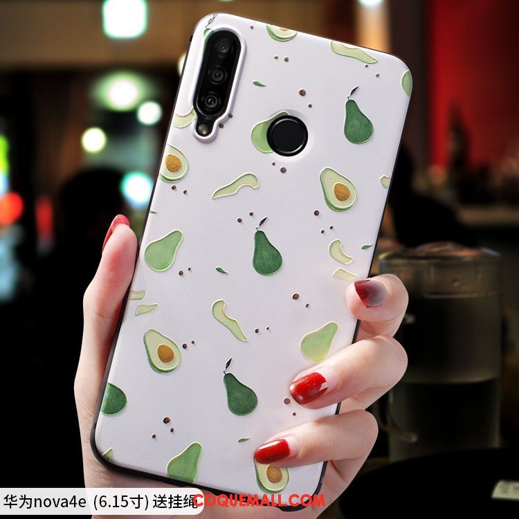 Étui Huawei P30 Lite Dessin Animé Téléphone Portable Personnalité, Coque Huawei P30 Lite Silicone Créatif