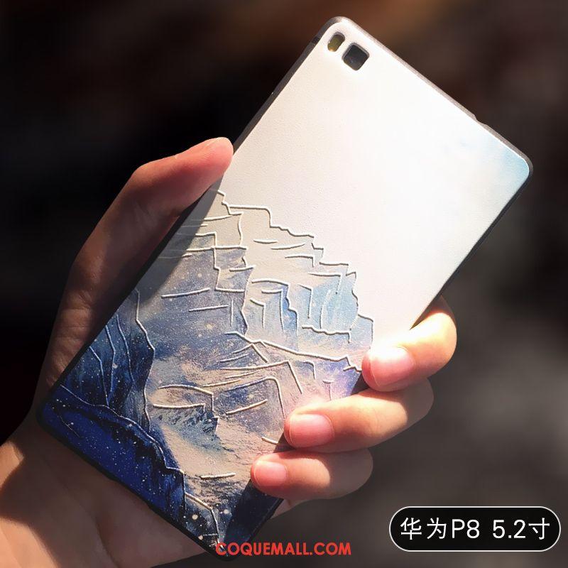 Étui Huawei P8 Jaune Haute Silicone, Coque Huawei P8 Créatif Personnalité