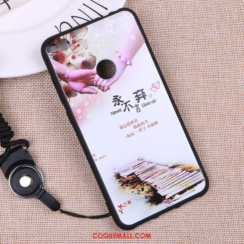 Étui Huawei P8 Lite 2017 Délavé En Daim Tout Compris Téléphone Portable, Coque Huawei P8 Lite 2017 Fluide Doux Blanc