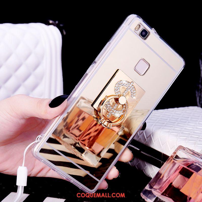Étui Huawei P9 Lite Strass Fluide Doux Anneau, Coque Huawei P9 Lite Incassable Silicone