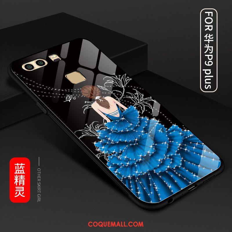 Étui Huawei P9 Plus Rouge Téléphone Portable Incassable, Coque Huawei P9 Plus Verre