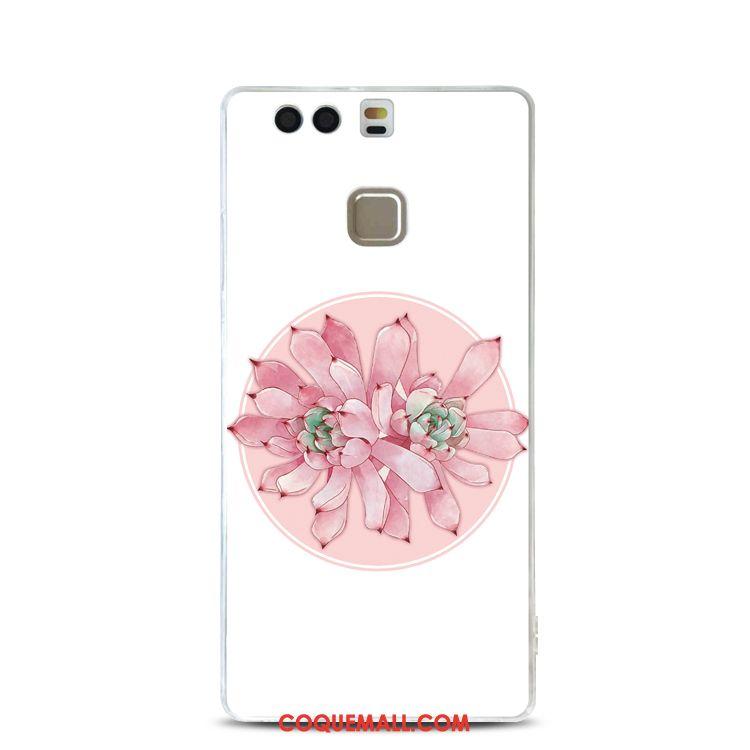 coque fleur huawei p9