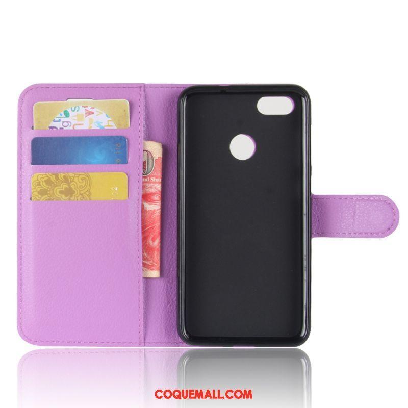 Étui Huawei Y6 Pro 2017 Incassable Violet Étui En Cuir, Coque Huawei Y6 Pro 2017 Rose Téléphone Portable