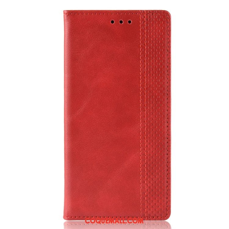 Étui Huawei Y7 2019 Téléphone Portable Bleu En Cuir, Coque Huawei Y7 2019 Boucle Magnétique Protection