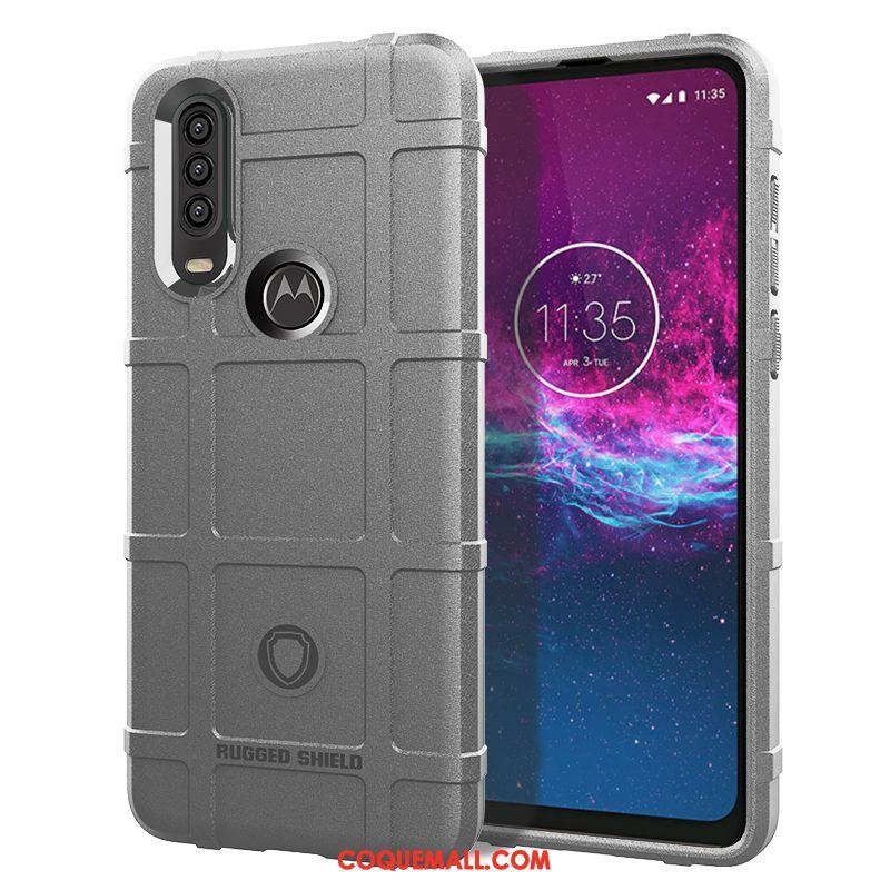 Étui Motorola One Action Incassable Fluide Doux Bordure, Coque Motorola One Action Silicone Téléphone Portable