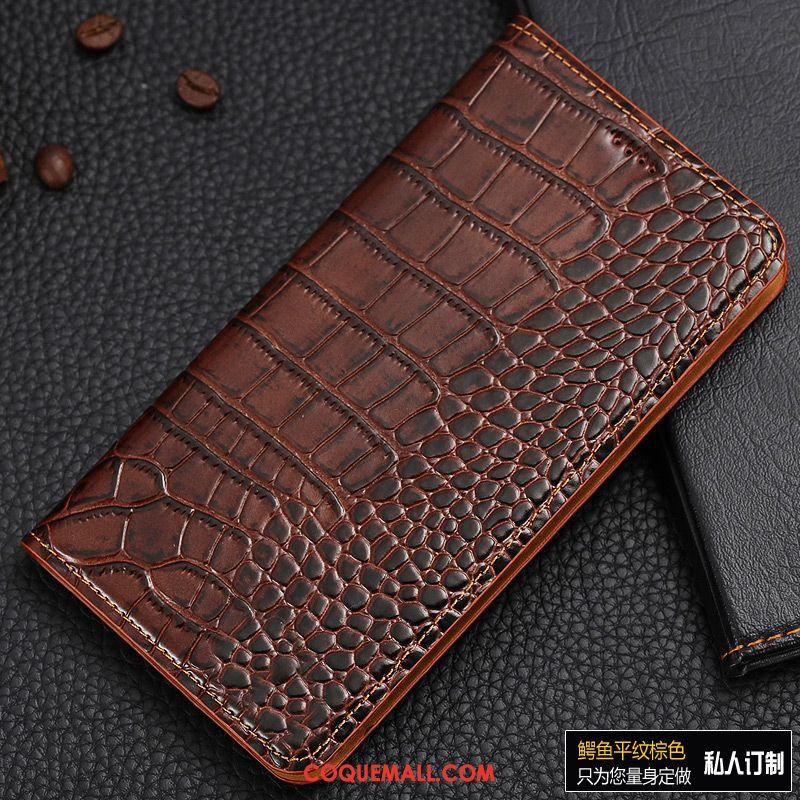 Étui Nokia 3.1 Rouge Crocodile Étui En Cuir, Coque Nokia 3.1 Téléphone Portable Protection