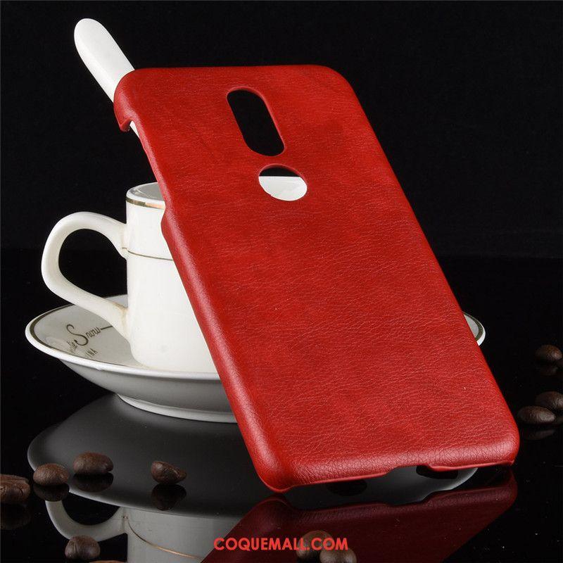 Étui Nokia 7.1 Modèle Fleurie Téléphone Portable Litchi, Coque Nokia 7.1 Protection Silicone Braun