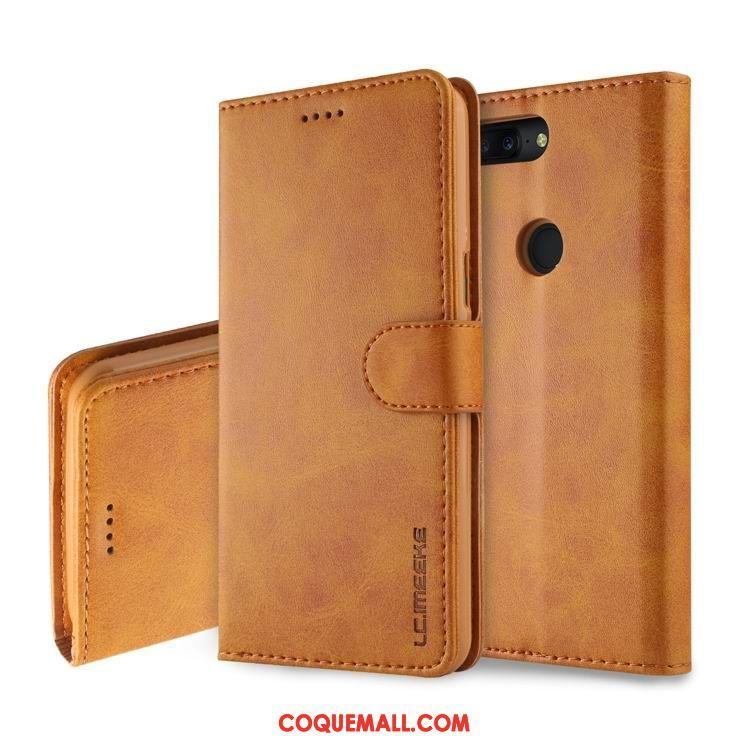 Étui Oneplus 5t Cuir Véritable Étui En Cuir Protection, Coque Oneplus 5t Tout Compris Téléphone Portable