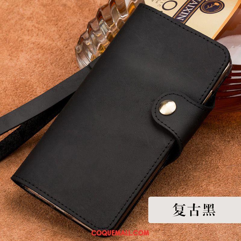 Étui Oneplus 6t Business Clamshell Incassable, Coque Oneplus 6t Étui En Cuir Protection