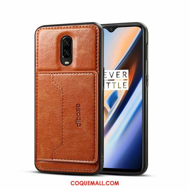 Étui Oneplus 7 Protection Rouge Téléphone Portable, Coque Oneplus 7 En Cuir Créatif