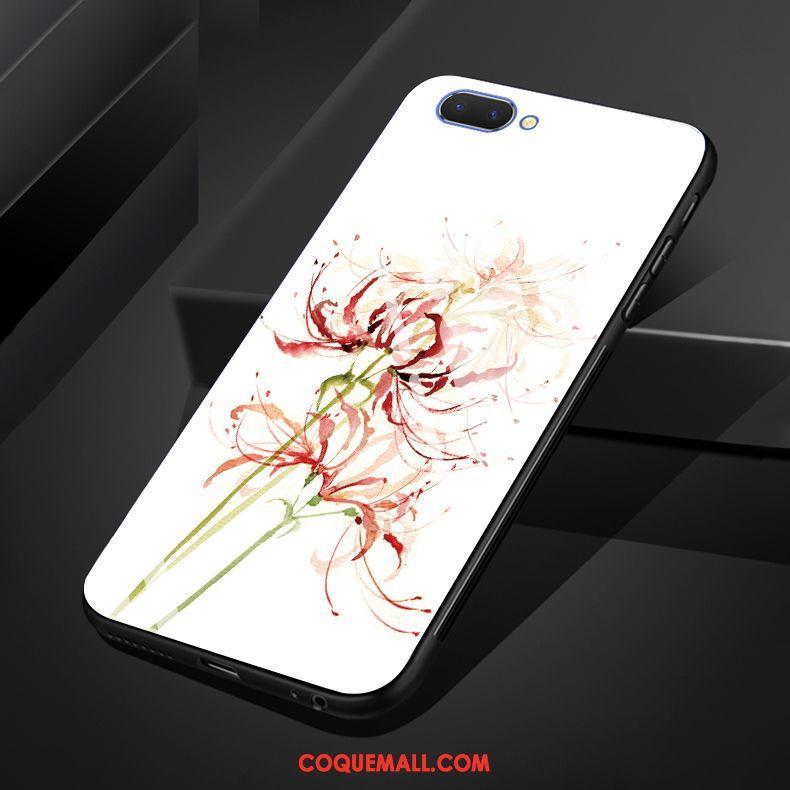 Étui Oppo A3s Art Incassable Silicone, Coque Oppo A3s Noir Verre
