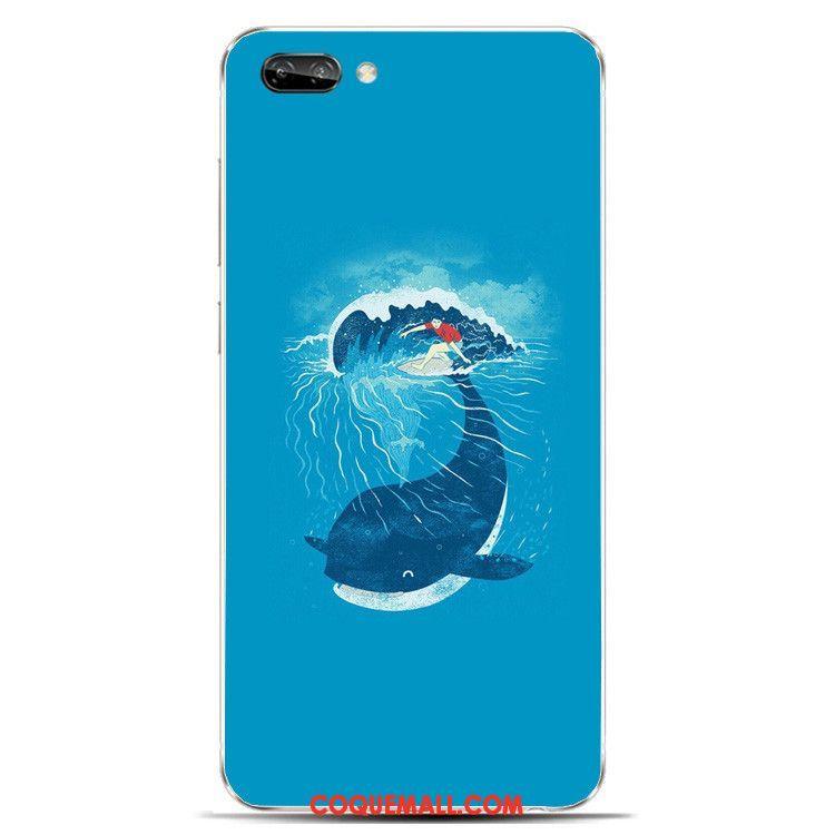 Étui Oppo A3s Beau Silicone Protection, Coque Oppo A3s Bleu Cerf