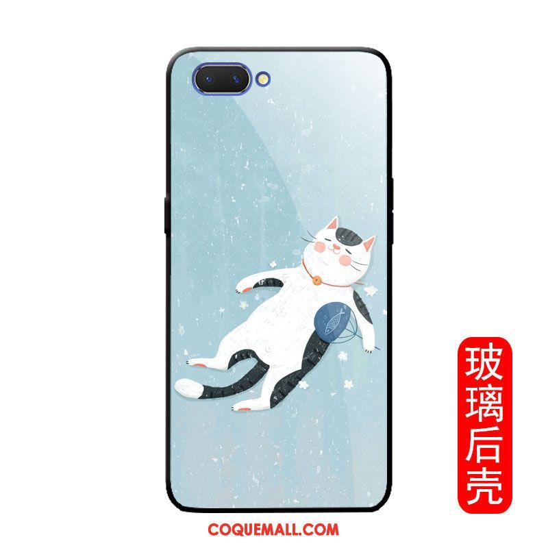 Étui Oppo A3s Drôle Téléphone Portable Chat, Coque Oppo A3s Simple Protection