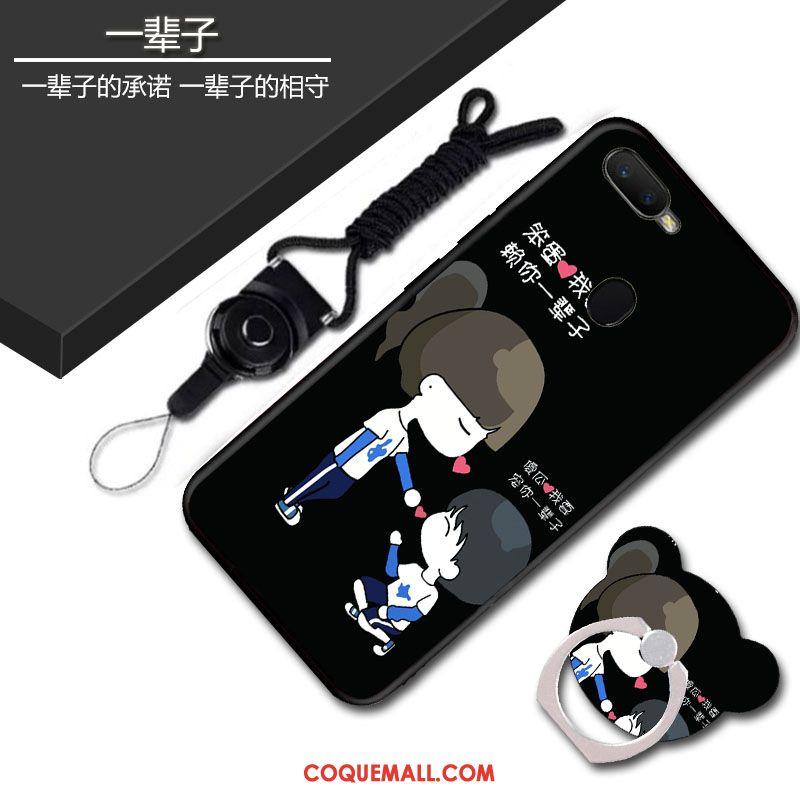 Étui Oppo Ax7 Téléphone Portable Cou Suspendu Dessin Animé, Coque Oppo Ax7 Protection Bleu