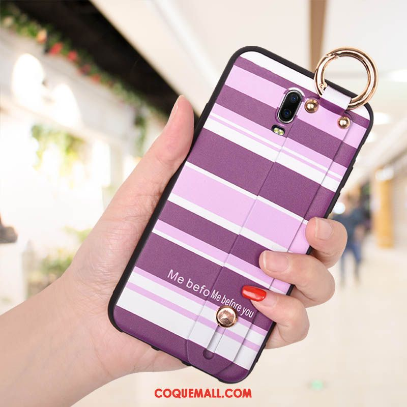Étui Oppo R17 Violet Créatif Silicone, Coque Oppo R17 Incassable Personnalité