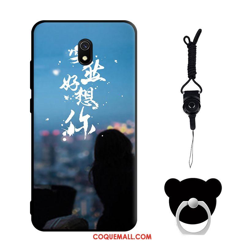 Étui Redmi 8a Silicone Téléphone Portable Protection, Coque Redmi 8a Tempérer Blanc Beige