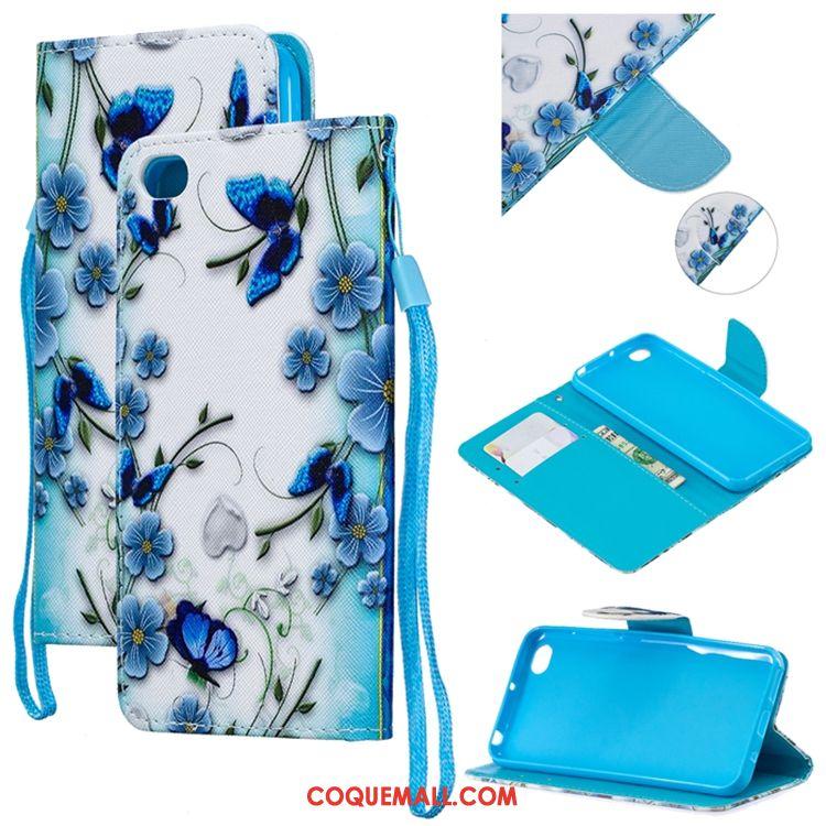 Étui Redmi Go Bleu Silicone Marque De Tendance, Coque Redmi Go Téléphone Portable Petit Beige