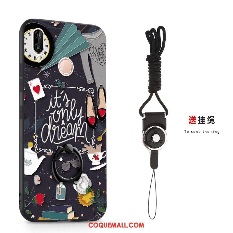Étui Redmi Note 7 Support Téléphone Portable Petit, Coque Redmi Note 7 Une Agrafe Gaufrage Beige