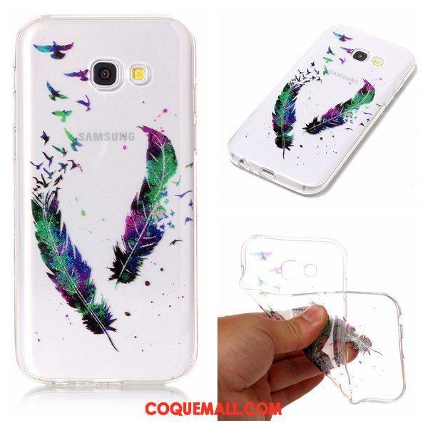Étui Samsung Galaxy A3 2017 Étoile Téléphone Portable Protection, Coque Samsung Galaxy A3 2017 Violet Fluide Doux
