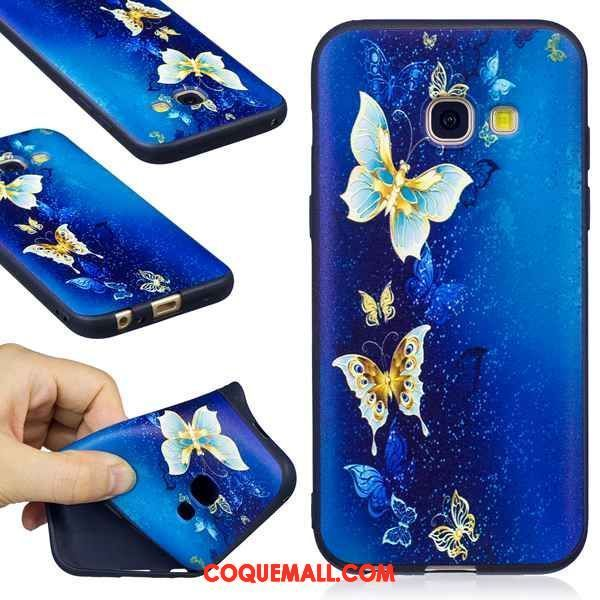 Étui Samsung Galaxy A3 2017 Bordure Peinture Rouge, Coque Samsung Galaxy A3 2017 Fluide Doux Gaufrage