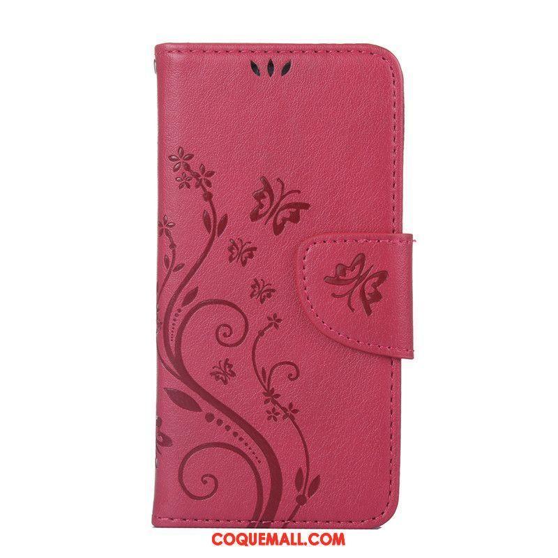 Étui Samsung Galaxy A5 2016 Clamshell Ornements Suspendus Protection, Coque Samsung Galaxy A5 2016 Téléphone Portable Rouge