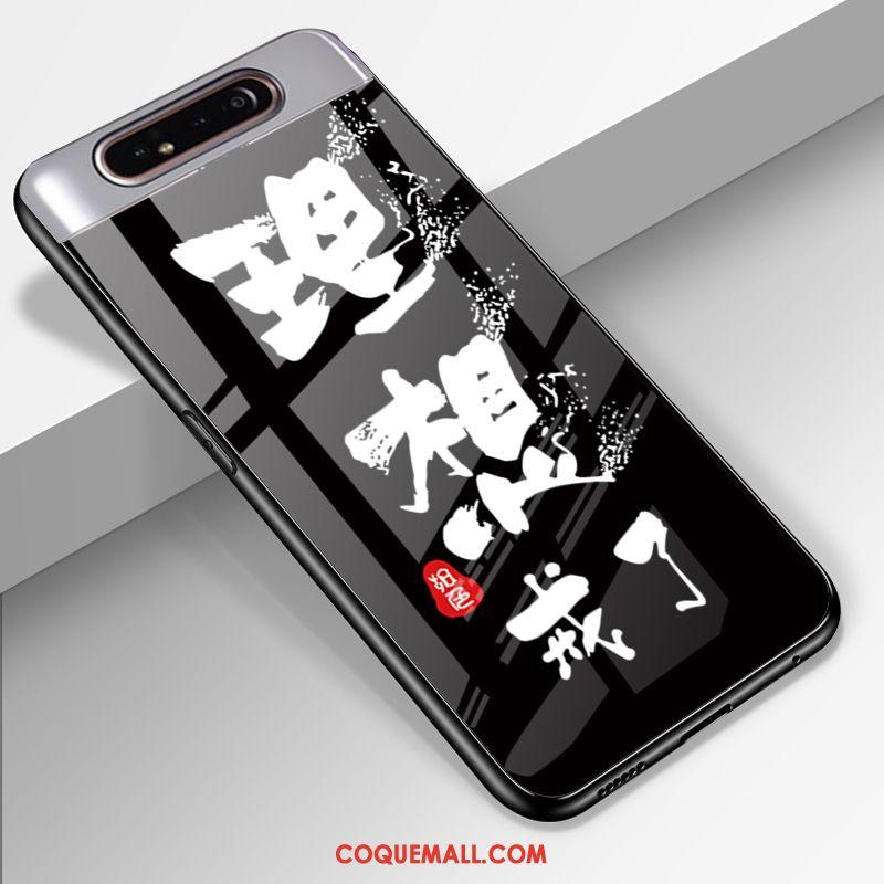 Étui Samsung Galaxy A80 Étoile Téléphone Portable Silicone, Coque Samsung Galaxy A80 Noir Personnalisé