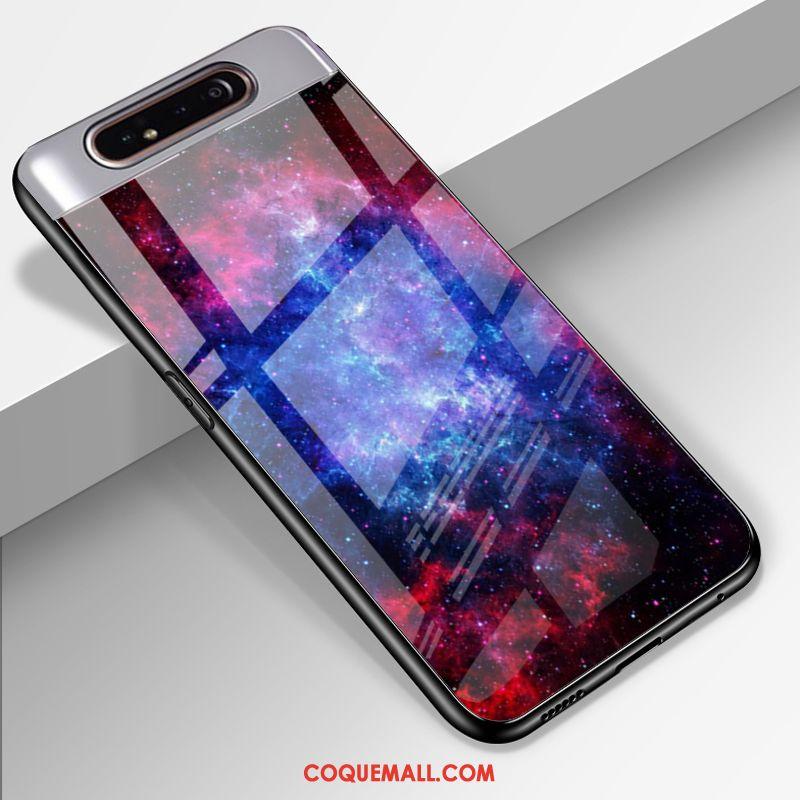 Étui Samsung Galaxy A80 Protection Incassable Téléphone Portable, Coque Samsung Galaxy A80 Étoile Verre