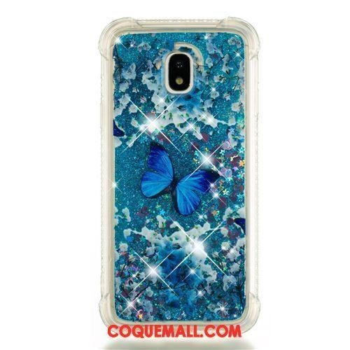 Étui Samsung Galaxy J5 2017 Étoile Ornements Suspendus Bleu, Coque Samsung Galaxy J5 2017 Fluide Doux Dessin Animé