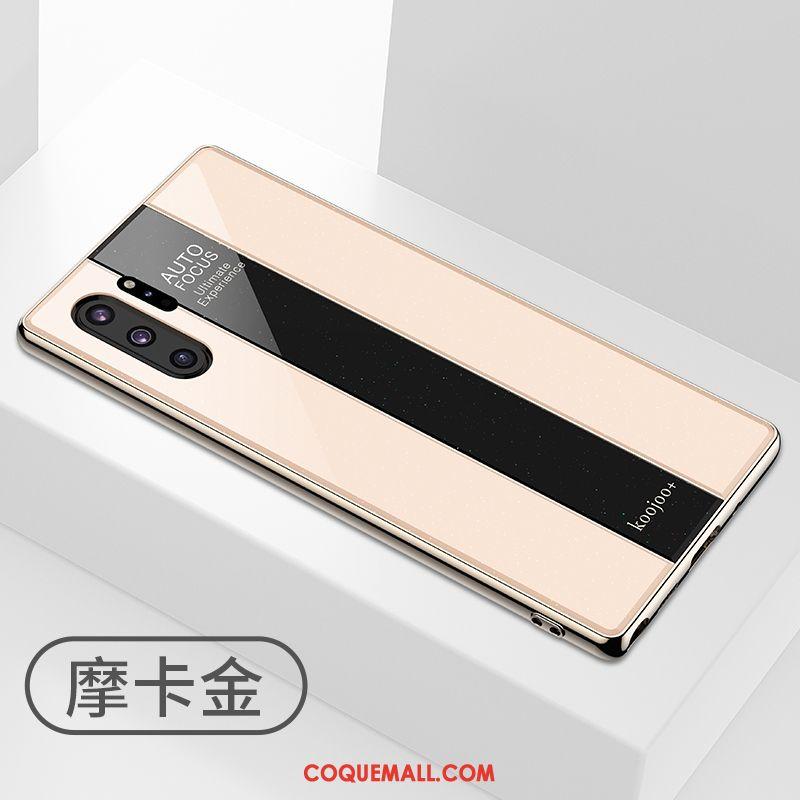 Étui Samsung Galaxy Note 10+ Luxe Rose Verre, Coque Samsung Galaxy Note 10+ Incassable Téléphone Portable