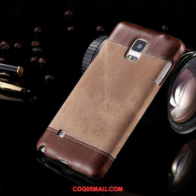 Étui Samsung Galaxy Note 4 Cuir Véritable Étoile Très Mince, Coque Samsung Galaxy Note 4 Téléphone Portable Protection Braun