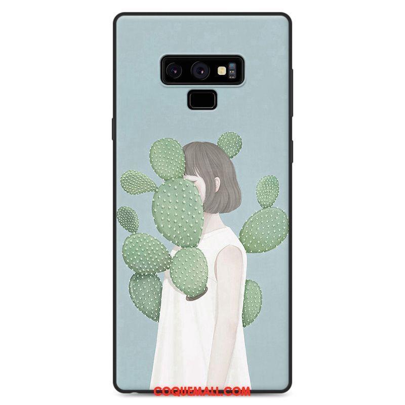Étui Samsung Galaxy Note 9 Frais Incassable Étoile, Coque Samsung Galaxy Note 9 Silicone Vert