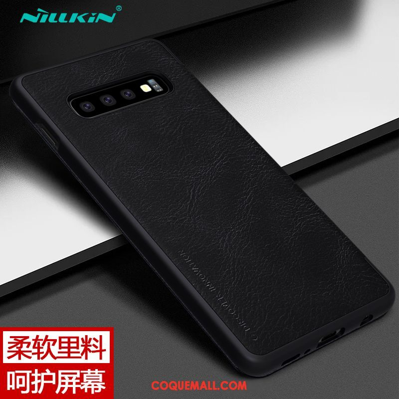 Étui Samsung Galaxy S10+ Carte Étoile Protection, Coque Samsung Galaxy S10+ Téléphone Portable Business Braun