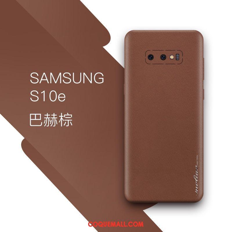 Étui Samsung Galaxy S10e Étoile Bleu Tout Compris, Coque Samsung Galaxy S10e Cuir Véritable Très Mince