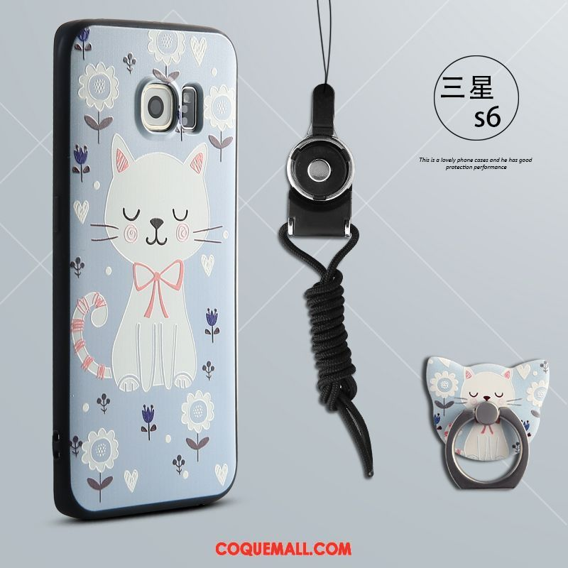 Étui Samsung Galaxy S6 Étoile Téléphone Portable Silicone, Coque Samsung Galaxy S6 Dessin Animé Bleu