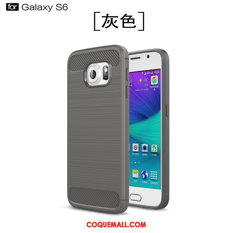 Étui Samsung Galaxy S6 Personnalité Étoile Protection, Coque Samsung Galaxy S6 Incassable Bleu