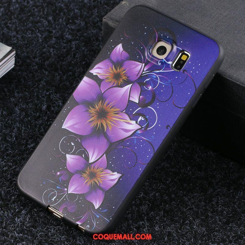 Étui Samsung Galaxy S6 Protection Téléphone Portable Foncé, Coque Samsung Galaxy S6 Étoile Fluide Doux